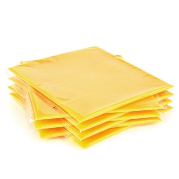 Processed cheese in slices